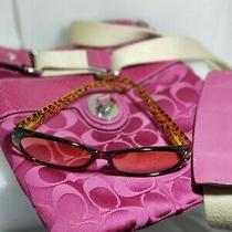 Coach Peyton Signature Crossbody in Magenta  2.50 Magnification Reader Glasses Photo