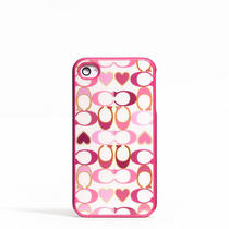 Coach Peyton Signature Heart Iphone 4 Case Style F64551 Multicolor Photo