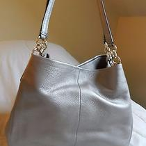 Coach Phoebe Leather Shoulder Bag-Rare-Pewter Oyster Metallic Photo