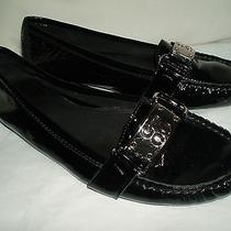 Coach Pierce Driving Moccasins Size 5.5b Black Patent Slip-on Loafer Ballet Flat Photo