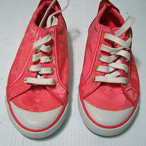 Coach Pink Barrett Fashion Lace Up Sneakers Photo