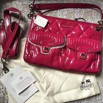 Coach Pink Crossbody Handbag Purse Turnlock  Nwt Beautiful Photo