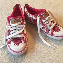 Coach Pink Daisy Sneakers Chucks Women's Size 5 Photo