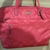 Coach Pink Diaper Bag F77577 X-Large Pre-Owned Photo