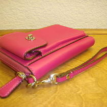 Coach Pink Fuchsia Campbell Leather Universal Iphone Case Wallet Wristlet 50070 Photo