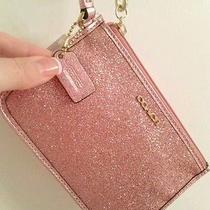 Coach Pink Glitter Wristlet Nwt Coach Store Item  Photo