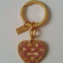 Coach Pink/gold Heart Key Chain F93170 Photo