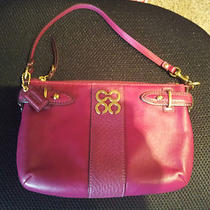 Coach Pink Leather Large Wristlet Photo