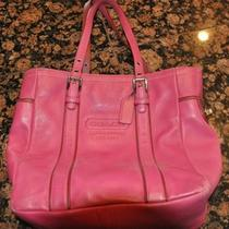 Coach Pink Leather Purse Handbag Tote Photo