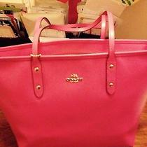 Coach Pink Leather Tote Photo
