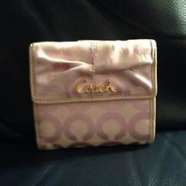 Coach Pink Op Art Signature Parker French Wallet Style 42457 Photo