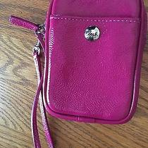 Coach Pink Patent Leather Cell Phone Case Photo