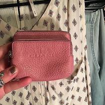 Coach Pink Pebbled Leather Wallet Photo