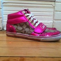 Coach Pink Sequin High Tops Photo