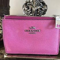 Coach Pink Signature Clutch  Wristlet Purse Wallet Authentic Photo
