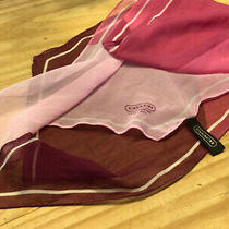 Coach Pink Silk Olbong Scarf Photo