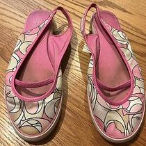 Coach Pink Slingbacks Madeline Mary Jane Ballet Flats Loafers Shoes Women Sz 9  Photo