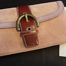 Coach Pink Suede Clutch - New Photo