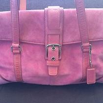 Coach Pink Suede Handbag Photo