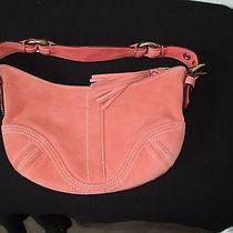 Coach Pink Suede Hobo Handbag Photo