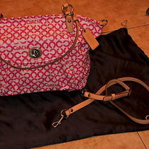 Coach Pink Tote Purse Free Ship Photo