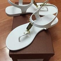 Coach Plato Women's Sandals Spring Summer Fashion Shoes White/gold Size 6.0 New Photo