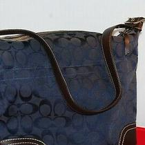 Coach Pocketbook Hardly Used Blue With C Design Photo