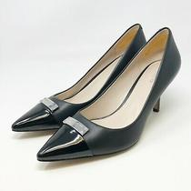 Coach Pointed Toe Black Glove Leather Patent Size 9 Photo