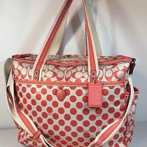 Coach Polka Dot Baby Diaper Tote Bag Rare 22366 Photo