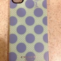 Coach Polka Dot Iphone 4/4s Case Mint/chambray Photo