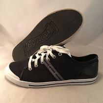 Coach Polly Black Signature Sneaker - Q1024 - Women's Size 10b - Great Photo