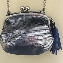Coach Poppy 21218 Silver Pewter Sequin Evening Bag Handbag Purse Clutch Photo