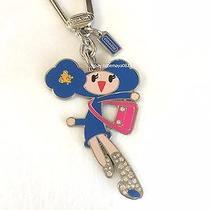 Coach Poppy Chan  Blueberry Girl  Key Chain Fob Charm Ring  Super Rare   Photo
