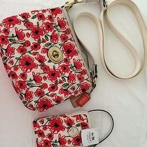 Coach Poppy Floral Used Swing Pack and New Cell Phone Wristlet Photo