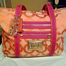 Coach Poppy Glam Op Art Tote Handbag. Style 13826 Photo