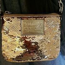Coach Poppy Gold Sequin Crossbody Bag. Photo