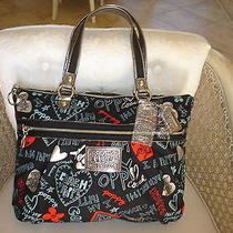 Coach Poppy Graffiti Glam Tote 16052 Photo