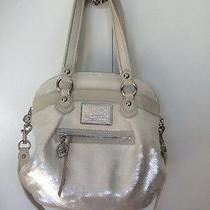 Coach Poppy Ivory Sequin Purse Cross Body Shoulder Bag Photo