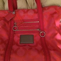 Coach Poppy Large Pink Bag Tote Purse Photo