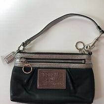 Coach Poppy Logo Wristlet Bag Handbag Small Purse Photo