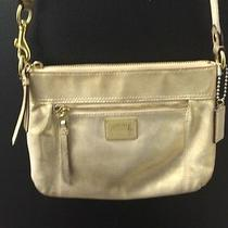 Coach Poppy Metallic Gold Crossbody  Photo