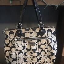 Coach Poppy Metallic Signature Glam Tote Shoulder Bag 17890 Photo