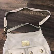 Coach Poppy Off White Leather Button Pocket Satchel Hobo Purse Shoulder 14561 Photo