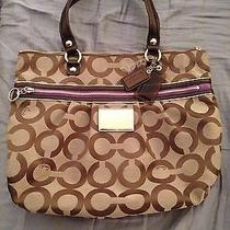 Coach Poppy Op Art Glam Purse Photo