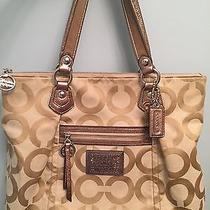 Coach Poppy Op Art Glam Tote Photo