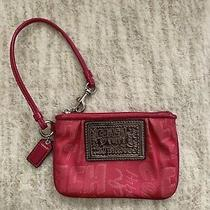 Coach Poppy Pink Wristlet Purse - Excellent Preowned Condition Photo