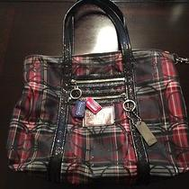 Coach Poppy Red Tote  Photo