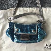 Coach Poppy Sequin Crossbody Purse Designer Handbag Photo