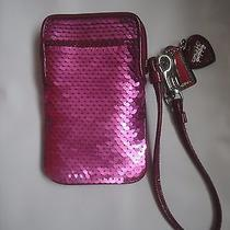Coach Poppy Sequin Pink Wristlet  Photo