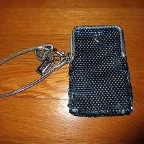 Coach Poppy Sequin Wristlet Fits Iphone 5 Teal Blue Photo